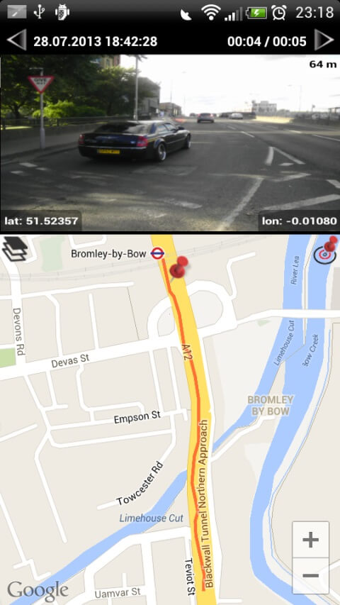 Videos with GPS track
